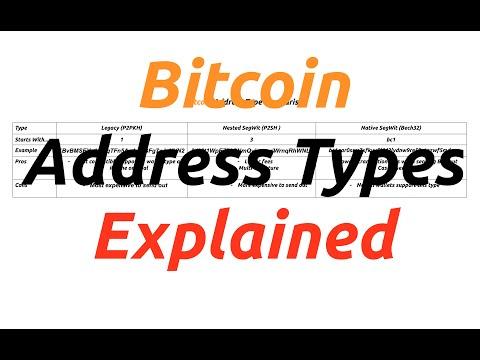 Bitcoin Address Type Comparison