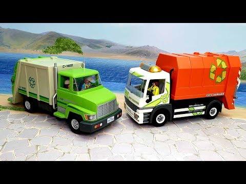 Мультики для детей с машинками и игрушками - Спор мусоровозов! Истории игрушек новые серии онлайн.