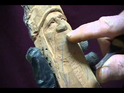 Carving A Mountain Man Youtube