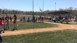William first pitch. Coles Little League opening day. 4/16/2016