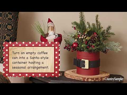 8 Quick And Festive Christmas Crafts A Country Sampler Design Tutorial Youtube