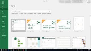 Excel İlk Tanışma ve Yeni Çalışma Kitabı Oluşturma - Excel Dersleri 2018