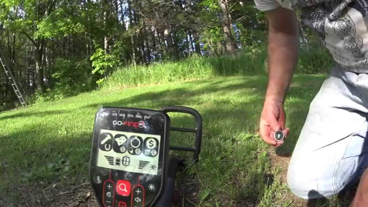 Minelab go find 60 metal detector in depth test - youtube.