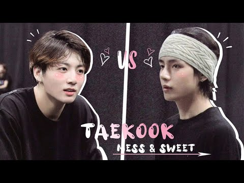 """When Taekook mess and """"honey"""" treat each other at the same time 💢&💓"""