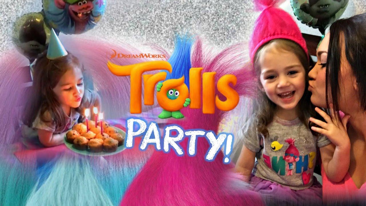 Dreamworks Trolls Themed Birthday Party