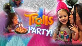 Dreamworks Trolls Themed Birthday Party | 3 Year Old