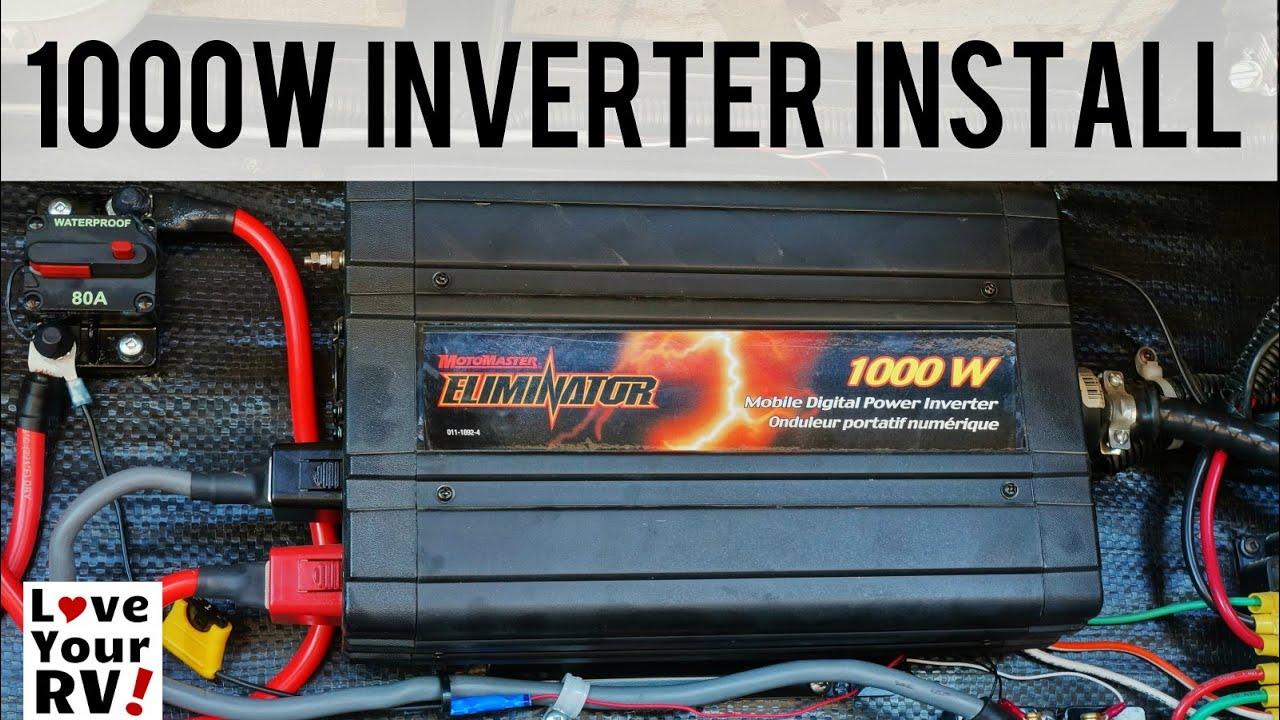 4 Wire Boat Trailer Wiring Diagram My 1000 Watt Inverter Installation Explained Youtube