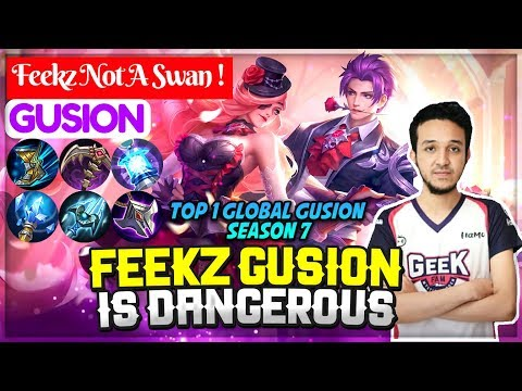Feekz Gusion Is Dangerous [ Top 1 Global Gusion S7 ] Feekz Not A Swan ! - Mobile Legends