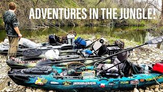 Kayak Bass Fishing - WHEN FARM ANIMALS ATTACK!!