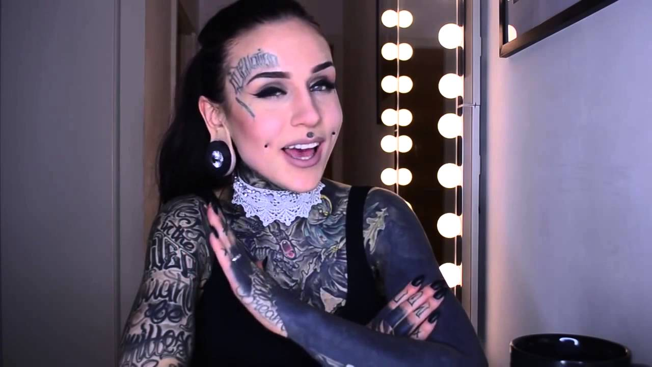 Girl With Solid Black Sleeve Tattoo 5 Youtube