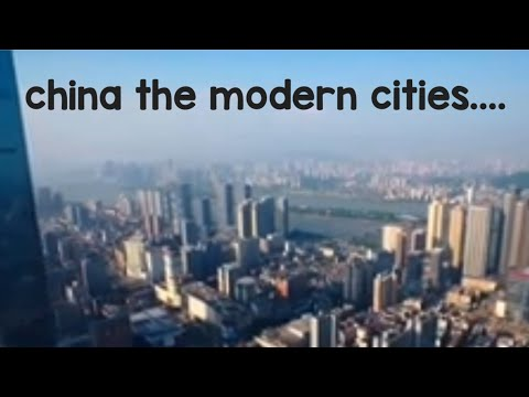 China the modern cities sky view wonder of asia....