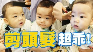 【蔡桃貴成長日記#20】給設計師剪頭髮!跟阿爸剪一樣的髮型!