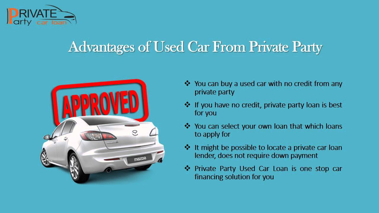 get used auto loan private party purchase with very less interest