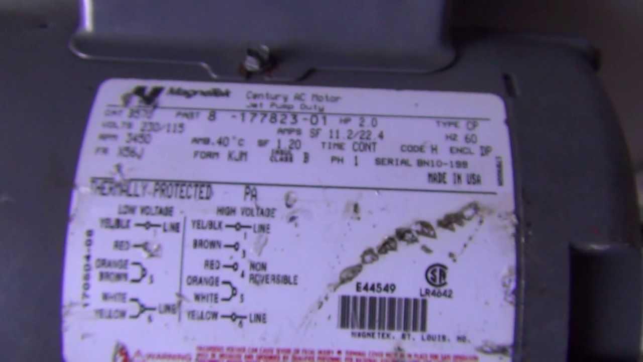century pool pump wiring diagram cat5e rj45 wall plate jetted tub motor 1 5 hp 51 magnetek spa youtube maxresdefault at cita asia