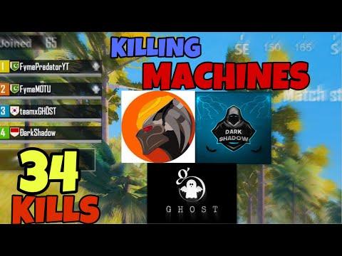 PREDATOR X DARKSHADOW X MOTU X GHOST | KILLING MACHINES | PUBG MOBILE