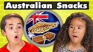 KIDS TRY AUSTRALIAN SNACKS | Kids Vs. Food