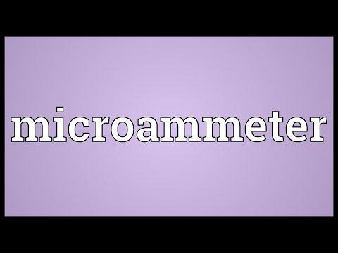 Header of microammeter