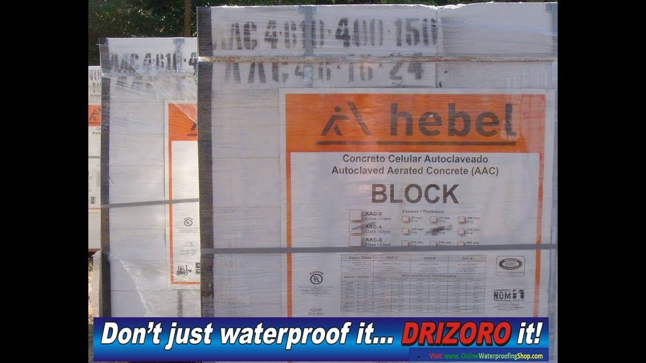Drizoro Waterproofing HEBEL- Autoclaved aerated concrete