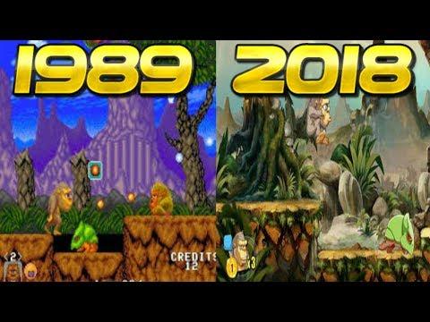 Evolucion de Toki/Juju (1989 - 2018)(PS4 - PC - SWITCH - ARCADE - NES - SEGA) evolution