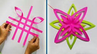 Home Decoration ideas for Christmas, Birthday, Party & Festivals || Paper Decoration crafts