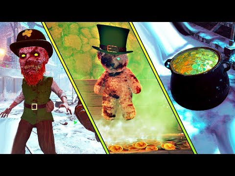 ST. PATRICK'S DAY MOD!   ALL ZOMBIES EASTER EGGS!   BLACK OPS 3 ZOMBIES