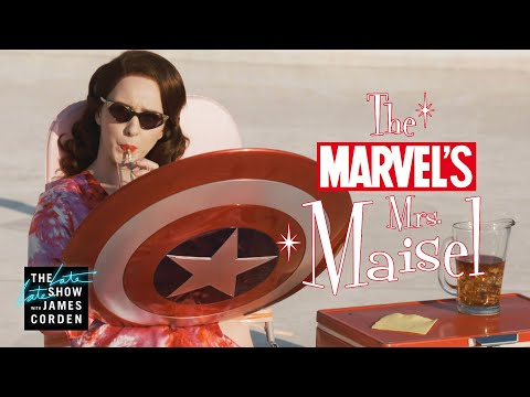 Mrs. Maisel Joins the Marvel Cinematic Universe With Help From James Corden