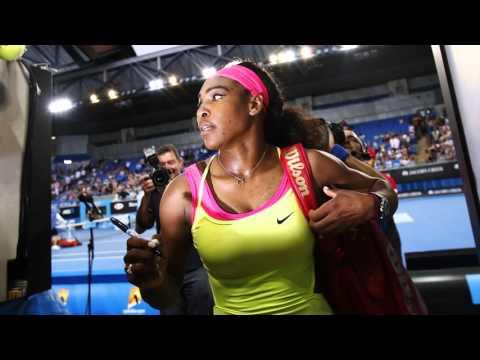 Serena Williams is the first Australia Open finalist