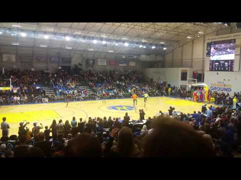 Santa Cruz Warriors Half-Time Show by Orchard School's Circus Arts Class