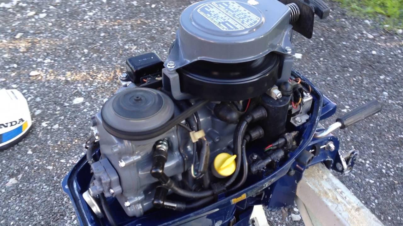 Honda 100 - 4 stroke CDI - 10HP - YouTube