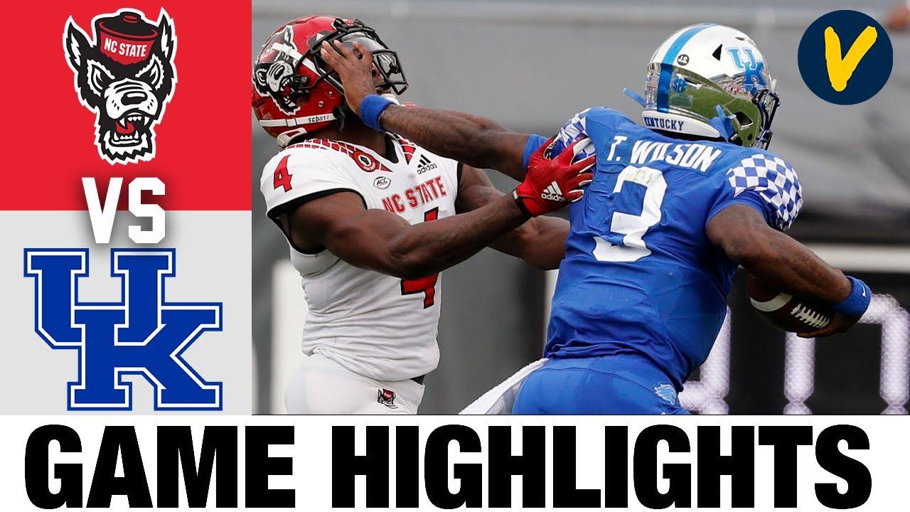 #23 NC State vs Kentucky Highlights | 2021 Gator Bowl Highlights| College Football Highlights