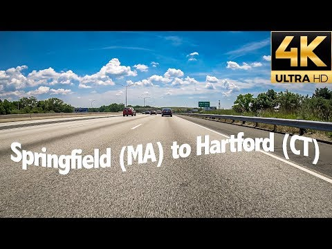 Driving From Springfield, Massachusetts To Hartford, Connecticut Via I-91 S, USA