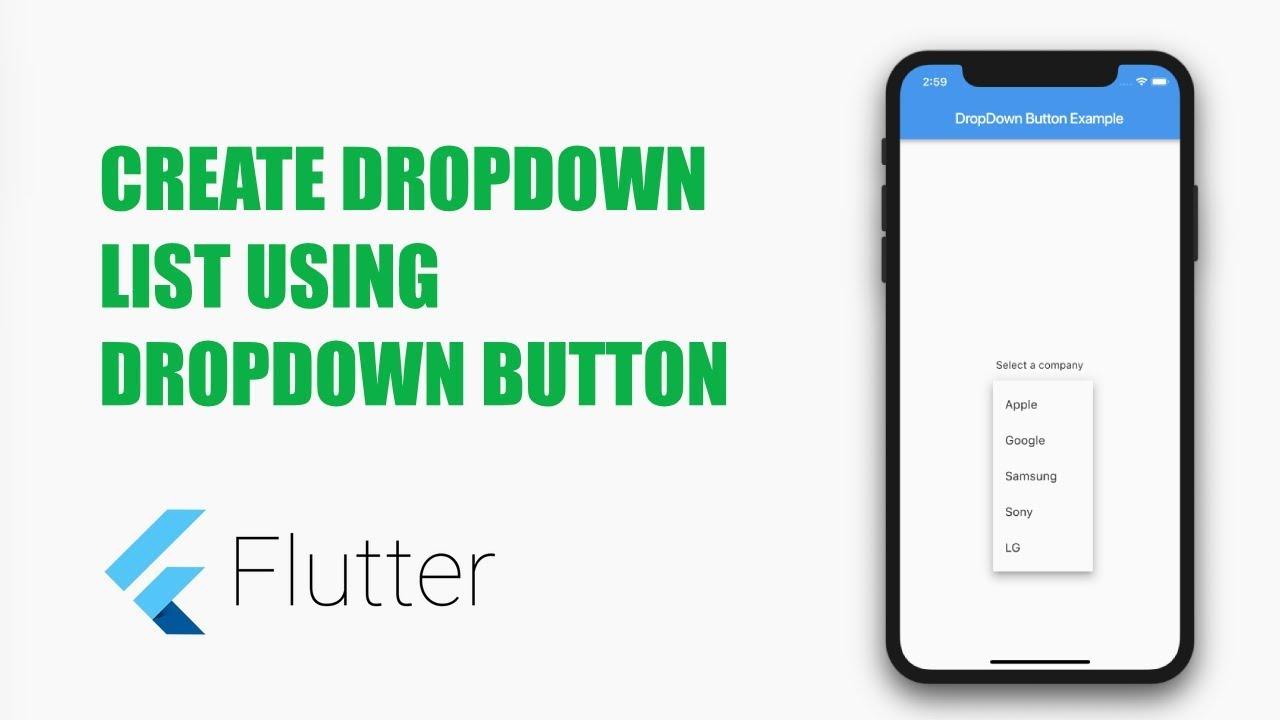 Dropdown List in Flutter – MOBILE PROGRAMMING