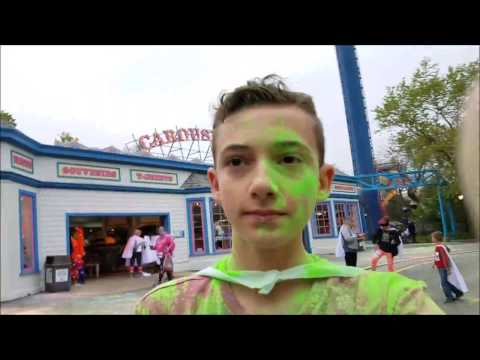 Six Flags Great America: AWESOME GLOW RUN AND 5K! 4-28-17