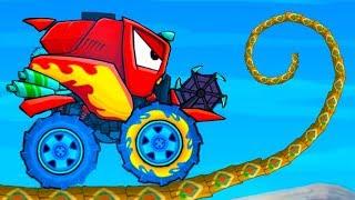 КОМБАЙН Car Eats Car Multiplayer #11 Кида проиграл подписчику в мультик игре Машина ест машину на МК