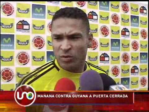 Selección Colombia contra Guyana a puerta cerrada
