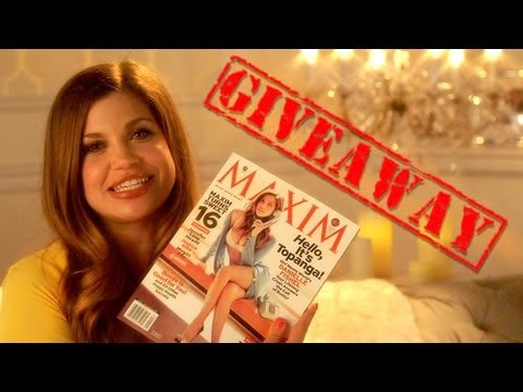 CLOSED Giveaway - Win an Autographed Danielle Fishel Maxim Magazine or Headshot!