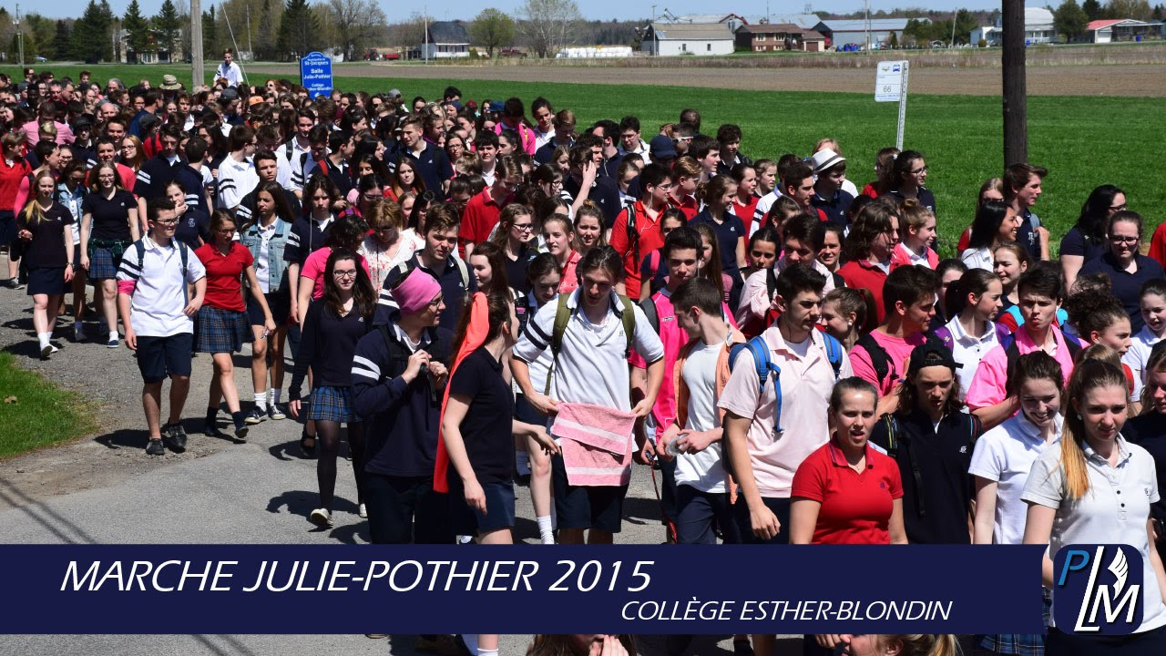 Marche julie pothier 2015 coll ge esther blondin youtube for College esther blondin piscine