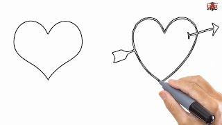step heart easy drawing simple draw drawings tutorials paintingvalley getdrawings