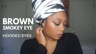 teal brown spring smokey eye hooded eyes bh cosmetics foil pallete