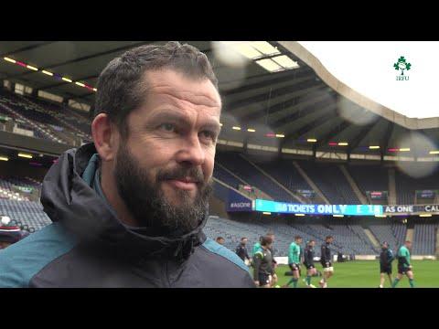 Irish Rugby TV: Andy Farrell On Scotland v Ireland