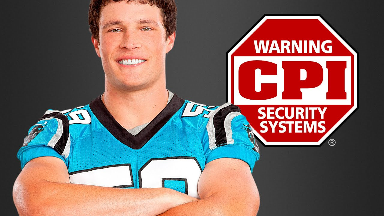 What if Luke Kuechly was your neighbor - CPI Security - YouTube