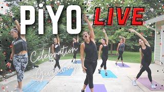 PiYO Workout & Giveaways | Full Body No Equipment | Cardio - Strength - Balance - Yoga
