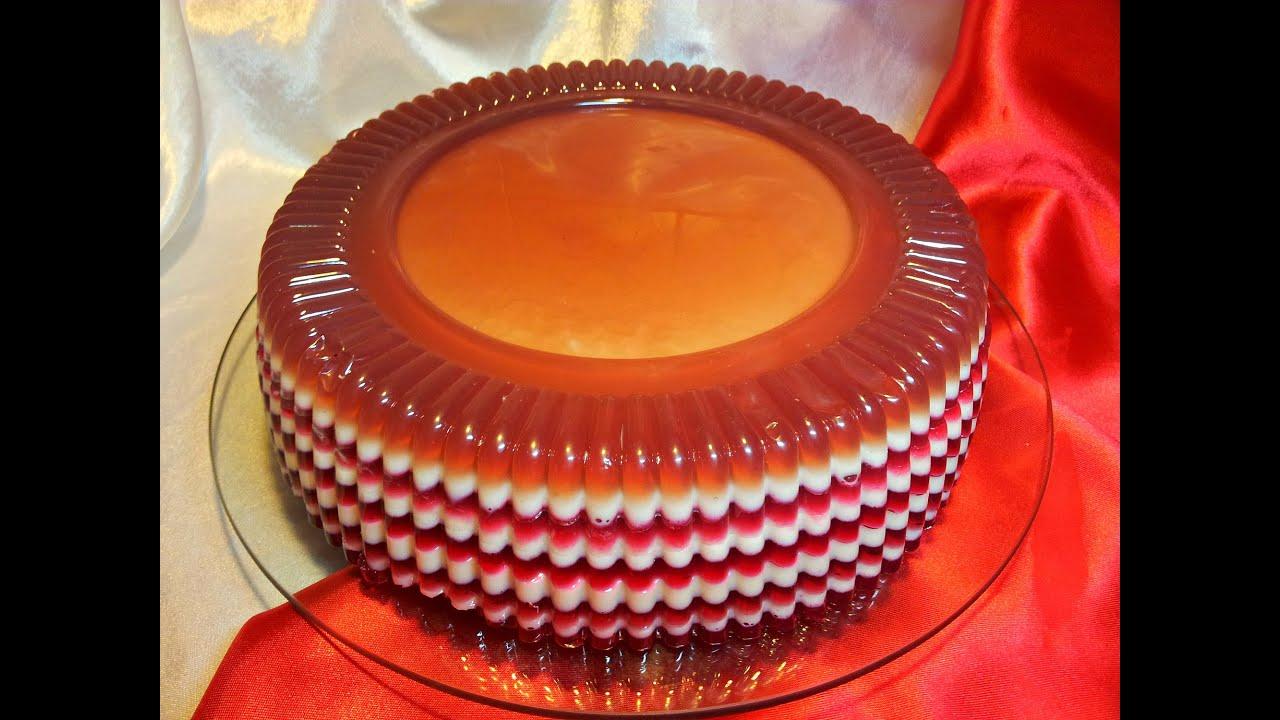 Желейные торты без выпечки с фото