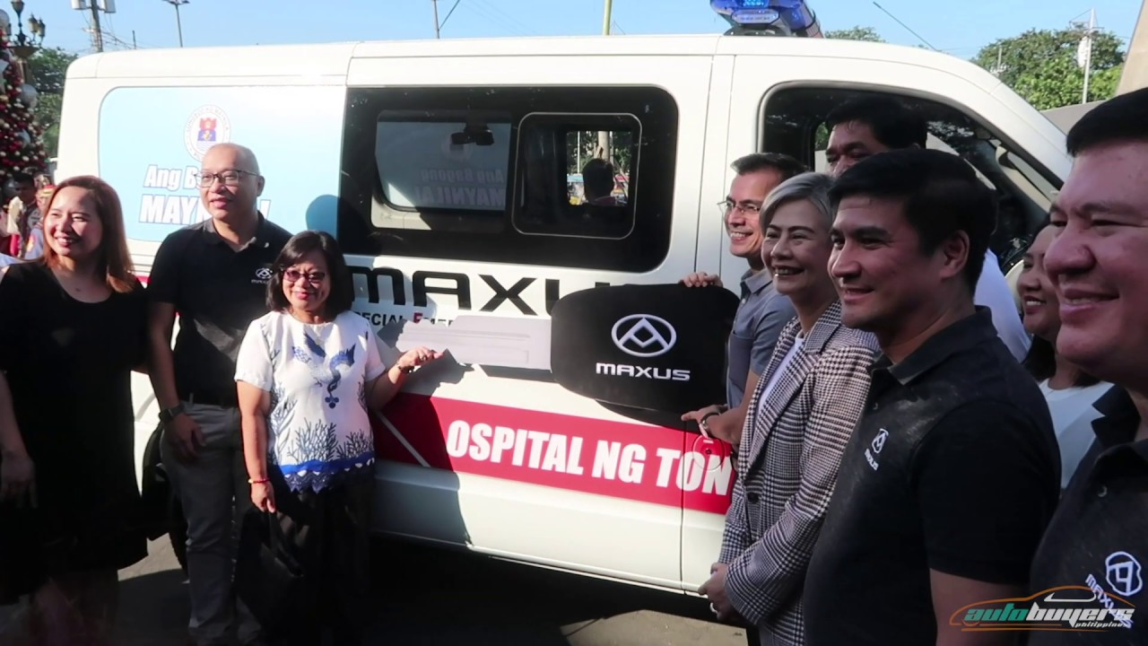 Manila Yorme receives new V80 Flex Ambulance from Maxus PH