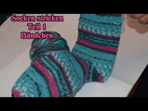 Teil 1 / Socken stricken für Anfänger / Maschenanschlag  & Bündchen