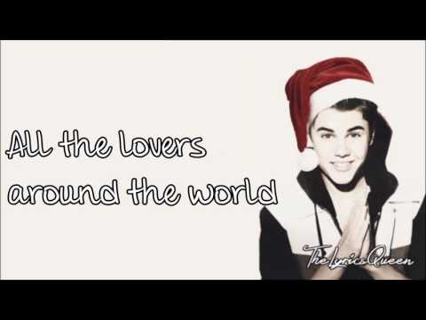 Justin Bieber  - Christmas Love [Lyrics] HD