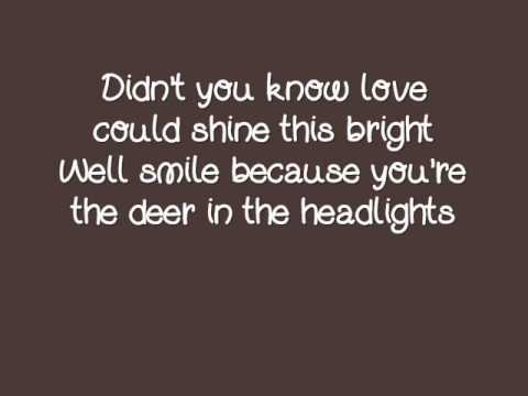 Owl City- Deer In The Headlights Lyrics Video