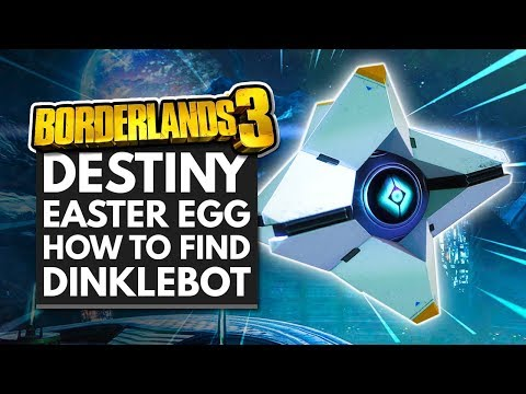 BORDERLANDS 3 | Destiny Easter Egg - How to Find Dinklebot & Loot-O-Gram