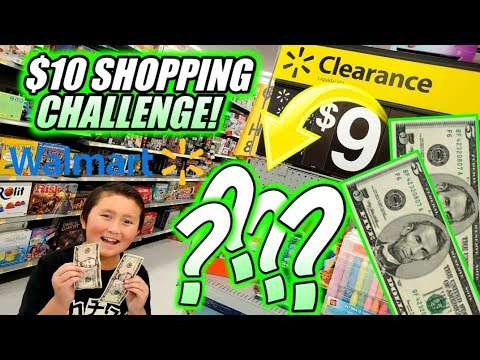 HUNTING AT WALMART FOR TOYS ON A $10 BUDGET! 10 DOLLAR CHEAP CHALLENGE! BEST CLEARENCE FINDS!