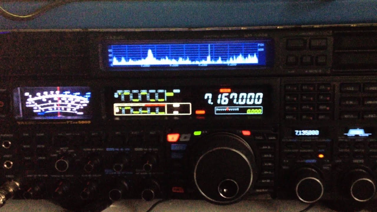 My Icom IC-R9500 - Internal RTTY Decoder 50/425 DWD German Weather .
